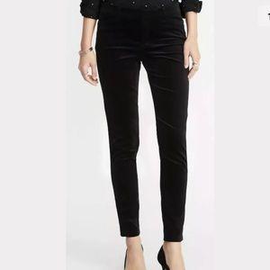 NWT Black Velvet Skinny Pants
